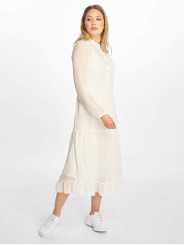 NA-KD jurk Long Panel wit