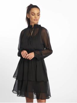 NA-KD jurk High Neck Frill  zwart