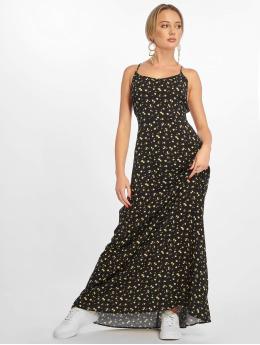 NA-KD jurk Open Back Floral zwart