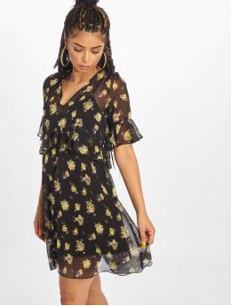 NA-KD Kleid Ruffle Floral schwarz