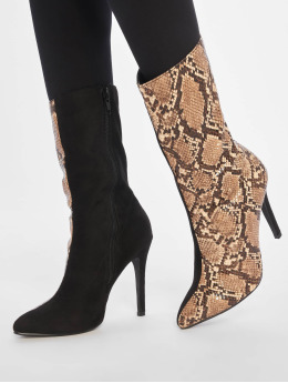 NA-KD laars Two Colour Stiletto bruin