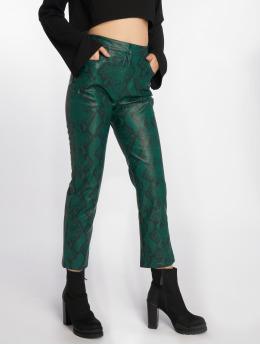 NA-KD Legging/Tregging Snake Printed PU green
