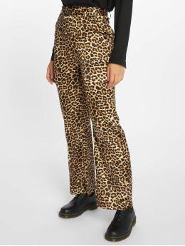 NA-KD | Flared Shiny Leo brun Femme Pantalon chino