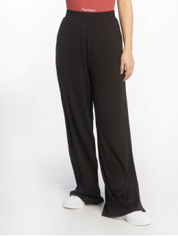 NA-KD Pantalon chino Ribbed noir
