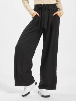 NA-KD Pantalon chino  High Waist Front Knot noir