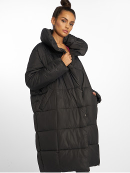 NA-KD / Parka Padded Shawl Collar in zwart