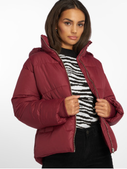 NA-KD Puffer Jacket Piper red