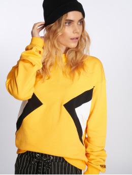 NA-KD Pullover Blocked Side gelb