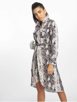 NA-KD Robe Snake Printed Shir gris