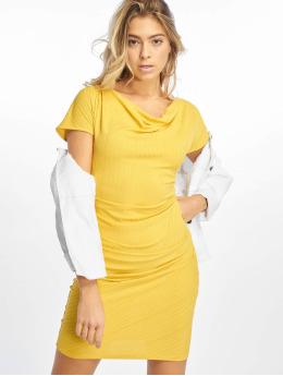 NA-KD Robe Drape Midi jaune