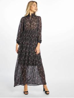 NA-KD Robe Floral Printed noir