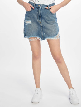NA-KD Rock Distressed Denim Mini blau