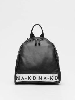 NA-KD Rucksack Logo schwarz