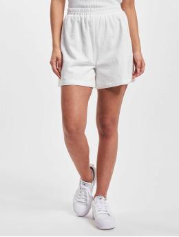 NA-KD Shorts Elastic Waist Linen Look weiß