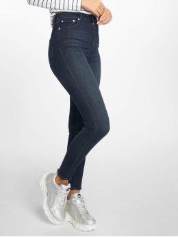 NA-KD Skinny Jeans High Waist 5 Pocket blå
