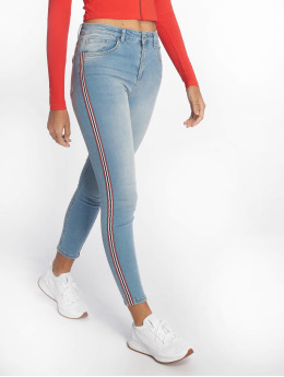 NA-KD Skinny jeans Side Striped blauw
