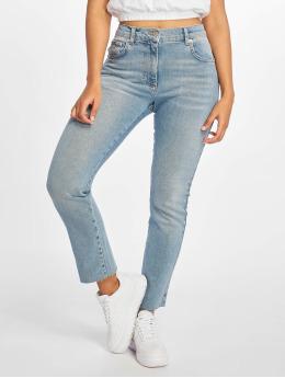 NA-KD Straight Fit Jeans Raw Hem Straight Leg blue