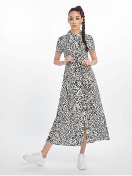 NA-KD Sukienki Short Sleeve Maxi bialy