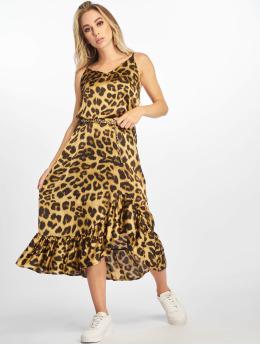 NA-KD Sukienki Long Frill brazowy