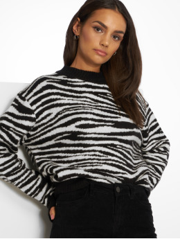 NA-KD Sweat & Pull Zebra Knitted noir