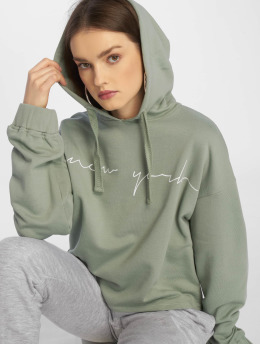 NA-KD Sweat capuche New York vert