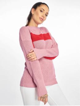 NA-KD Swetry Happy Stripe pink