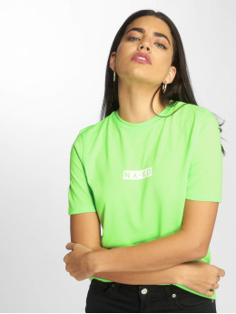NA-KD T-paidat Neon Logo vihreä