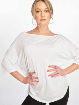 NA-KD T-Shirt Off Shoulder Loose blanc