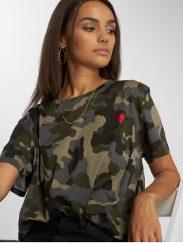 NA-KD t-shirt Heart camouflage