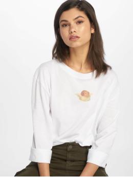 NA-KD T-Shirt manches longues Angel Tee blanc