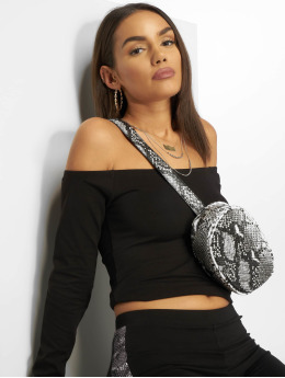NA-KD T-Shirt manches longues Cropped Off Shoulder noir