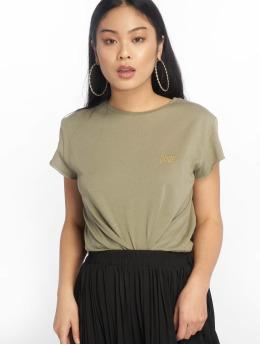 NA-KD t-shirt Babe Basic olijfgroen