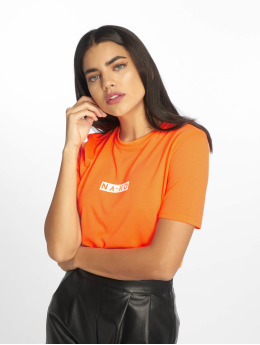 NA-KD T-Shirt Neon Logo orange