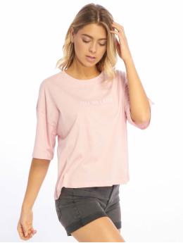 NA-KD T-shirt Tell Me Later Oversized rosa chiaro