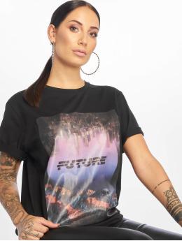 NA-KD T-shirt Future Oversized svart