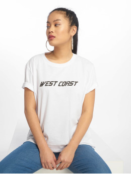 NA-KD T-Shirt West Coast weiß