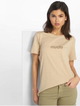 NA-KD T-Shirty Nude bezowy