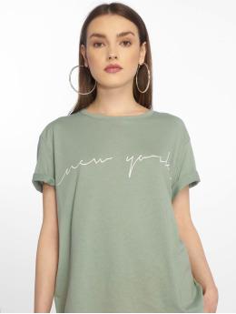 NA-KD T-Shirty New York zielony