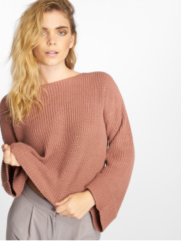 NA-KD Trøjer Cropped Long Sleeve Knitted pink