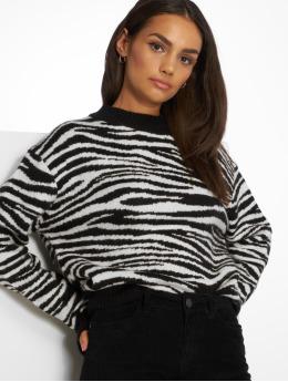NA-KD trui Zebra Knitted zwart