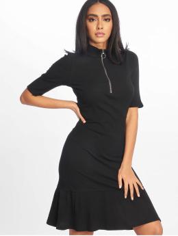 NA-KD Vestido Rib Frill negro