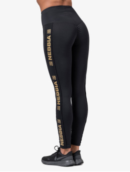 Nebbia Leggings/Treggings Logo  czarny