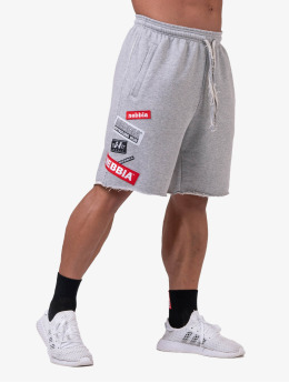 Nebbia Shorts Logo  grau