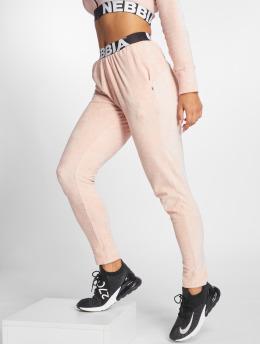Nebbia Spodnie do joggingu Drop Crotch rózowy