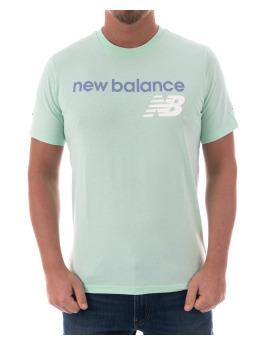New Balance T-Shirt Mt73581sef grün