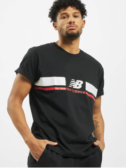 New Balance t-shirt MT93550 zwart