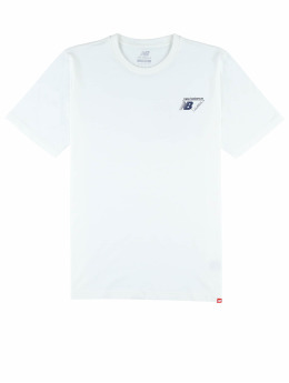 New Balance T-Shirty Essentials Classic Lock bialy
