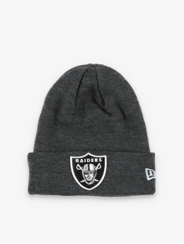 New Era Čepice NFL Oakland Raiders Heather Essential Knit šedá