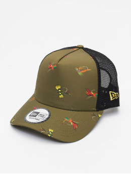 New Era Кепка тракер All Over Print Fishing 9Forty AF оливковый