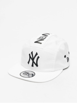 New Era 5 Panel Caps MLB NY Yankees Camper valkoinen